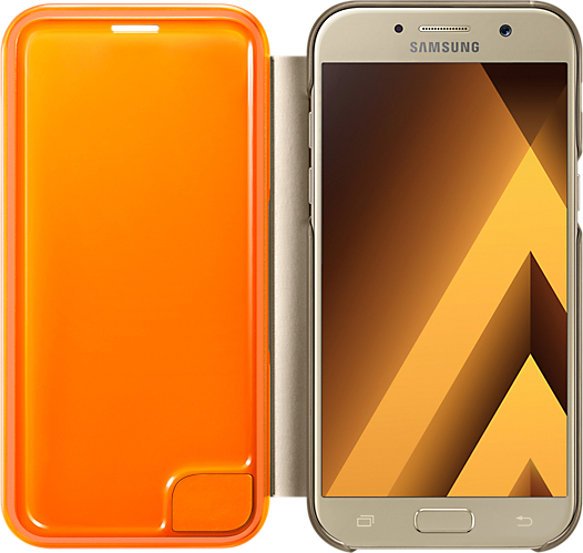 huge selection of d4cad 04e8c Samsung Neon Flip Cover Gold (Galaxy A5 2017)