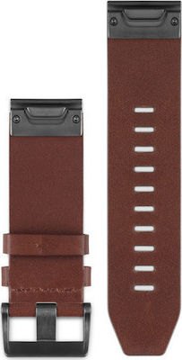 Garmin QuickFit 26 Watch Bands Brown Leather