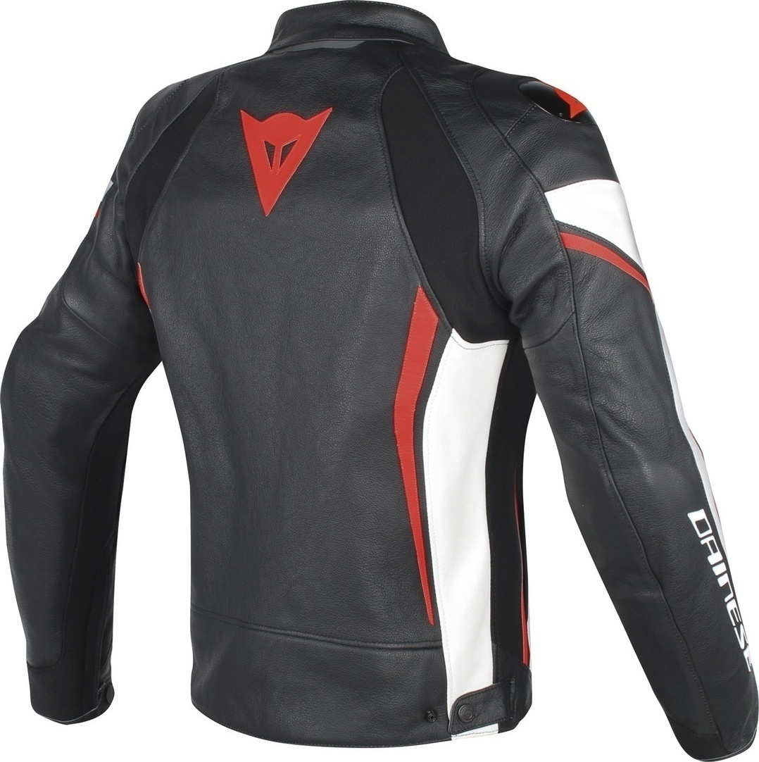 Dainese Assen Leather Black white Red-Fluo - Skroutz.gr 31ce4d126ac