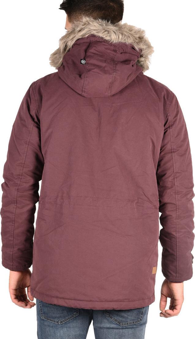 Basehit Padded Hooded Long Jacket Wine - Skroutz.gr 78a71771951