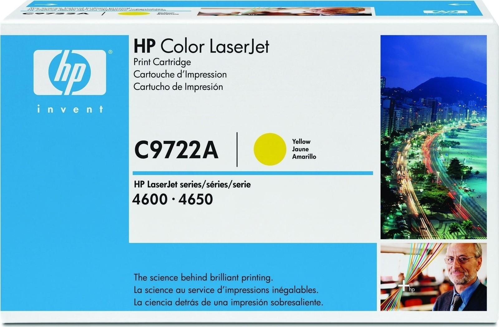 Hp 641a C9722a Yellow Original Laserjet Toner Cartridge 5890319 Clj 4600 4650 Print
