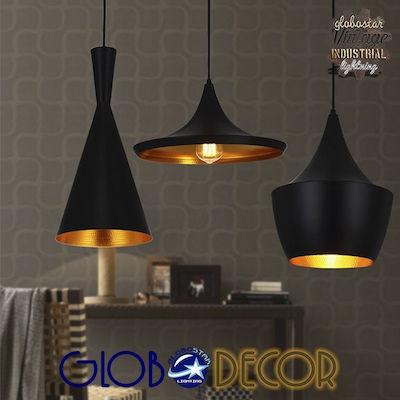 GloboStar Shanghai 01025 Μαύρο | Κρεμαστά Φωτιστικά Οροφής