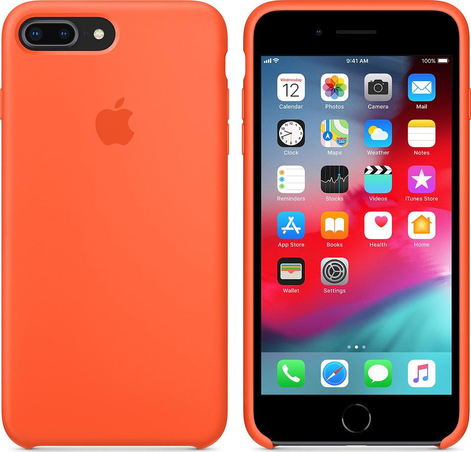 cheap for discount c5ebb 5cc6d Apple Silicone Case Spicy Orange (iPhone 8/7 Plus)