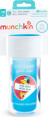 Munchkin Miracle Insulated Sticker Cup 266ml Blue