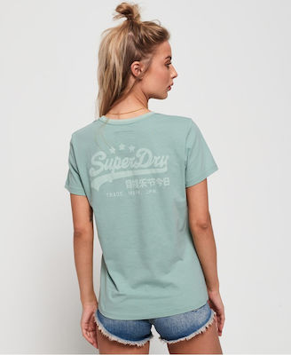 Superdry Vintage Logo Heritage Entry Green