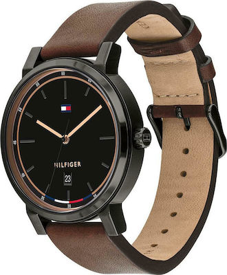 Tommy Hilfiger Montre Thompson Black/Brown