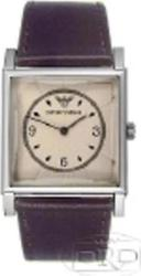 Emporio Armani Square Classic Brown Leather Strap AR2407