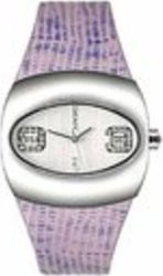 DKNY Stainless Steel Ladies Purple Canvas Strap NY3469