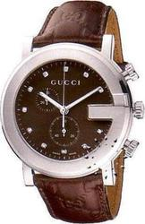 Gucci 101 G ChronoScope Ladies Brown Leather Strap YA101344