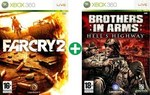 Far Cry 2 & Brothers in Arms Hells Highway Xbox 360