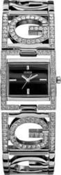 Guess Crystal Lady Black Dial Stainless Steel Bracelet W11559L1