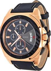 Guess Mens Rose Gold Black Strap W20013G1