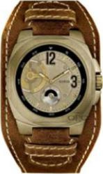 Guess XL Sceleton Look Brown Leather Strap W15061G1