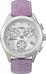 Timex Purple Leather Chronograph T2M711