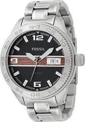 Fossil Black Dial Stainless Steel Bracelet - AM4218