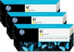 HP 91 Yellow 775ml 3-pack (C9485A)