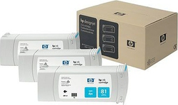 HP 81 Cyan Dye 680ml 3-pack (C5067A)