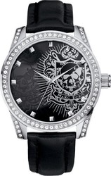 Marc Ecko The Face-Off Leather Strap Watch E09504G1