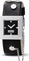 Moschino It's Lucky Time Black Leather Strap - MW0082