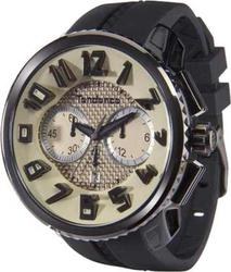 Tendence Round Gulliver Chronograph Black Rubber Strap - 02046015