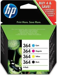 HP 364 Black/Cyan/Magenta/Yellow 4-pack (SD534EE)