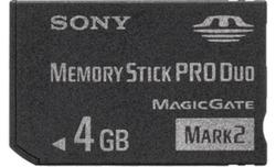 Sony Memory Stick Pro Duo 4GB Mark2