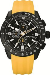 Nautica NST-101 Yellow Strap Chronograph A18599G