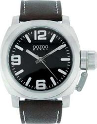 Oozoo STEEL XL Brown Leather Strap OS21