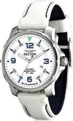 Sector Blackeagle White Leather Strap Men R3251189045