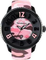 Tendence Round Gulliver Camo Pink Rubber Strap T0430027
