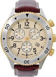 Timex Brown Leather Chronograph T2M705