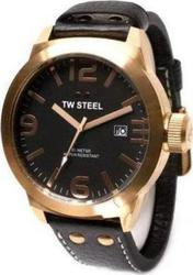 TW Steel Icon Medium Black Leather Strap Rose Gold Case TW632