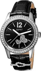 Esprit Ladies Watch Love Heart Black Leather Strap ES103222001