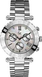 Guess Womens White Mother Of Pearl Precious Collection Chronograph With Swarovski Stones And Silver Stainless Steel Bracelet 63000L1
