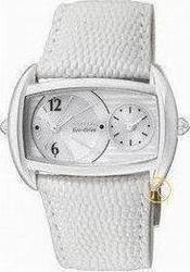 Citizen EcoDrive Dual Time White Leather Strap Ladies HY1001-03A