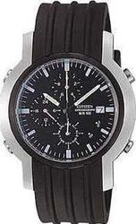 Citizen Chronograph Black Rubber Strap AI3834-36E