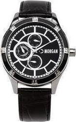 Morgan De Toi Black Leather Strap Crystal Ladies M1081B