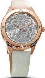 Miss Sixty Radio Star Rose Gold White Leather Strap SN8003