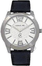 Cerruti 1881 Black Leather Strap CRA029A212C
