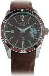 U.S. Polo Assn. Brown Leather Date USP1004BR