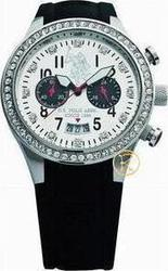 U.S. Polo Assn. U.S. Crystal Black Rubber Strap Chrono USP2005BK