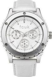 FCUK Ladies White Leather Strap FC1085SW