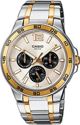 Casio Collection Calendar Stainless Steel Bracelet MTP-1300SG-7AVEF