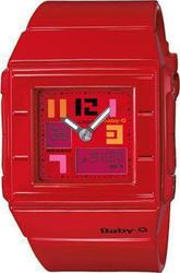 Casio Baby-G Shock Square Red Rubber Strap BGA-200PD-4BER