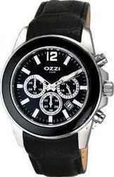 Ozzi Chronograph Black Leather Strap W08578