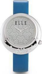 Elle Time Elle Ladies Crystal Blue Leather Strap EL20097S03C