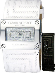 Versace V-Couture Ladies Black & White Strap 71Q99SD01FS001