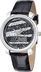 Just Cavalli Glam Black Leather Strap R7251179515