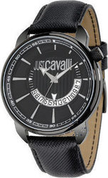 Just Cavalli Earth Black Leather Strap R7251181025