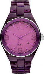 Adidas Ladies Cambridge Purple Transparent Plastic Bracelet ADH2555